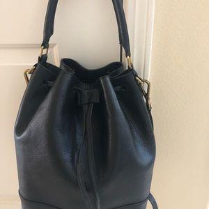 Madewell Drawstring Handbag Black